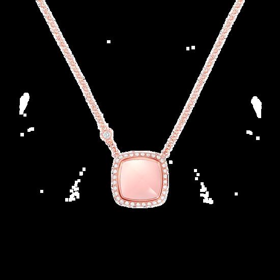 Pink quartz Pain de Sucre necklace