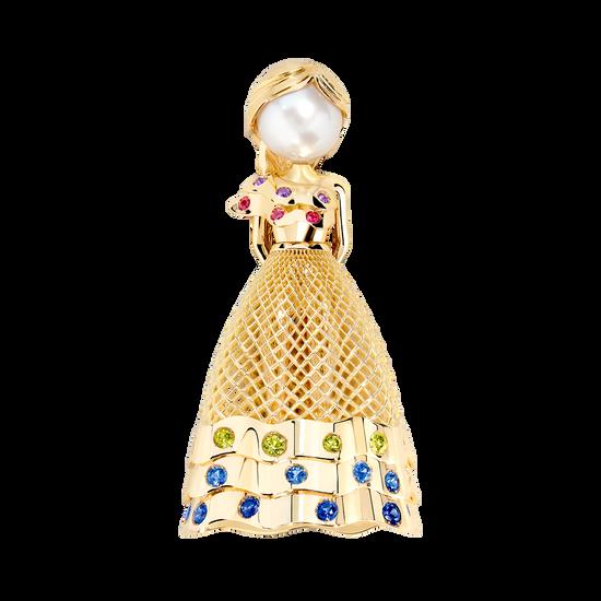 Fredy's Tomo's Doll Tutu pendant brooch