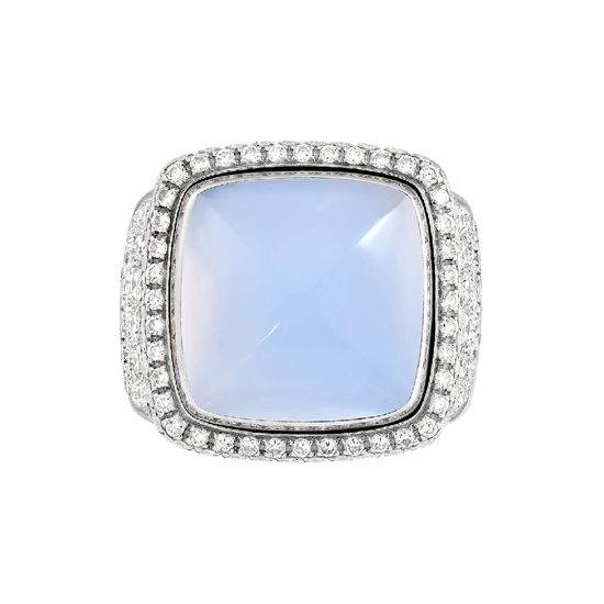 Chalcedony Pain de Sucre ring