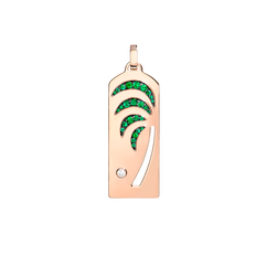 Palm tree riviera pendant