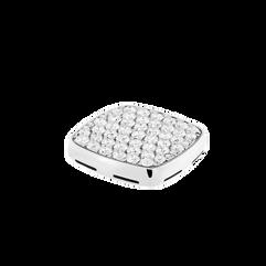 다이아몬드 플랫 카보숑, 18K 화이트 골드