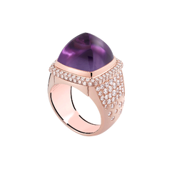 Amethyst Pain de Sucre ring