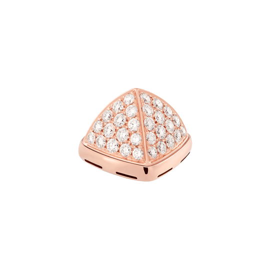 Diamonds and 18k pink gold cabochon