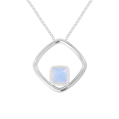 Chalcedony Pain De Sucre necklace
