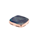 Grey mother-of-pearl and 18k pink gold signet plake