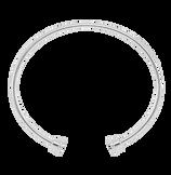 18k white gold  bangle