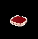 Plaque chevalière cornaline et or rose 750/1000e