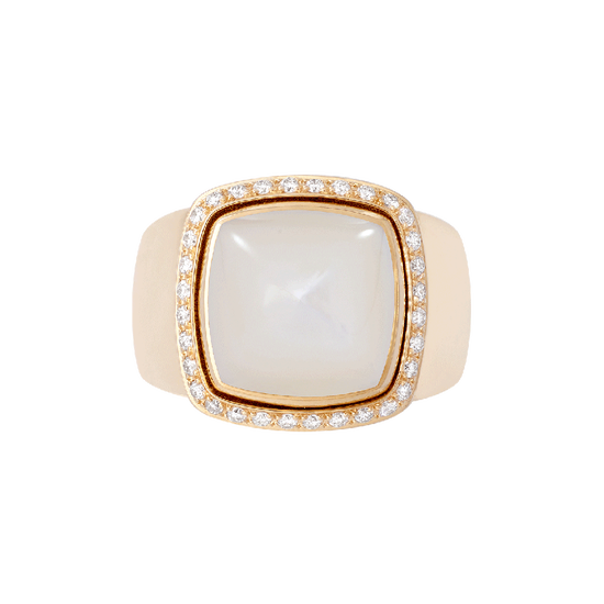 White mother-of-pearl Pain de Sucre ring
