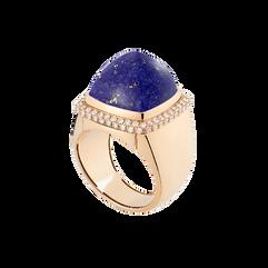 Lapis lazuli Pain de Sucre ring