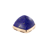 Lapis lazuli and 18k yellow gold cabochon