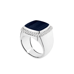 Hawk's eye Pain de Sucre ring