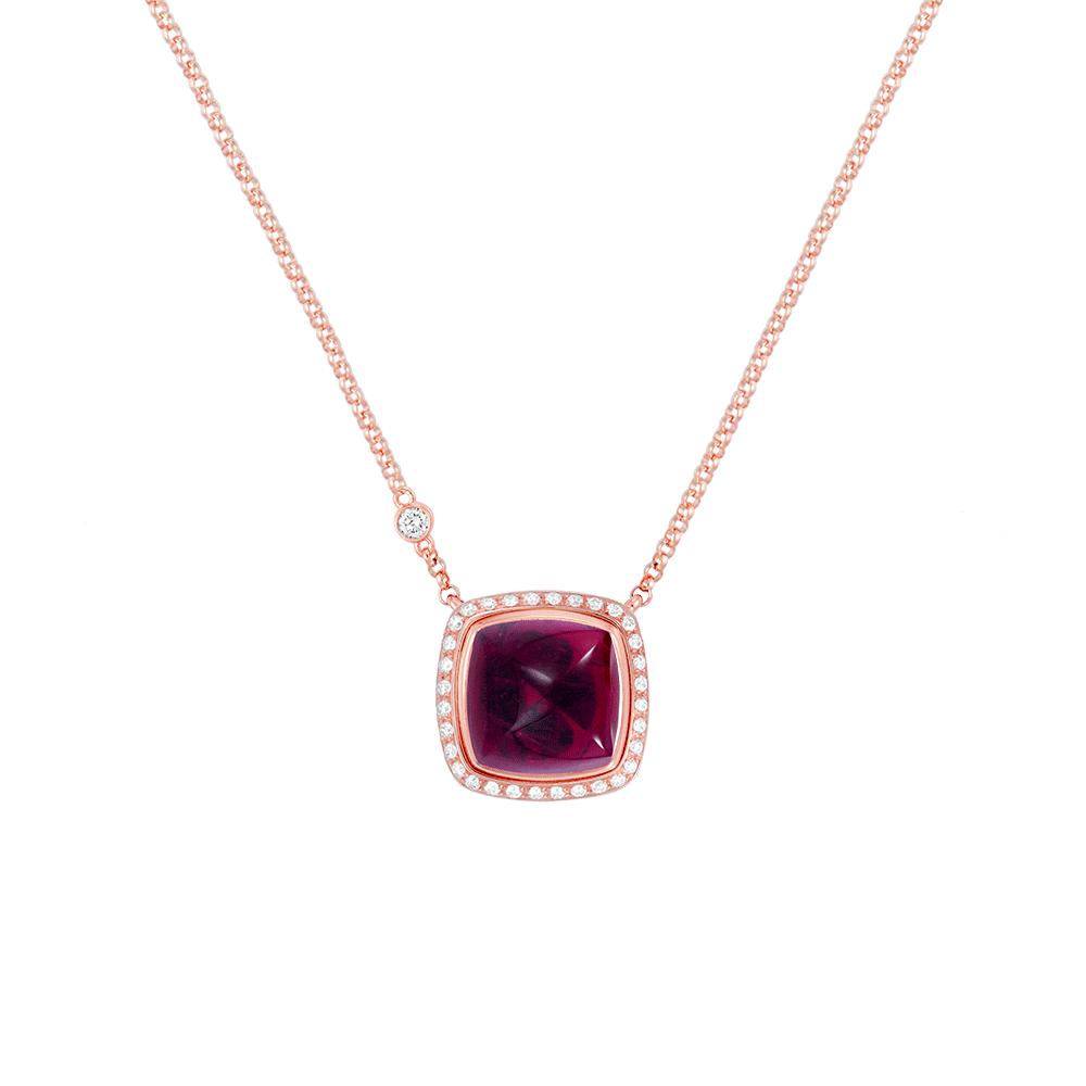 Rubellite Pain de Sucre necklace