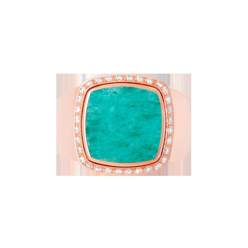 Amazonite Pain de Sucre ring