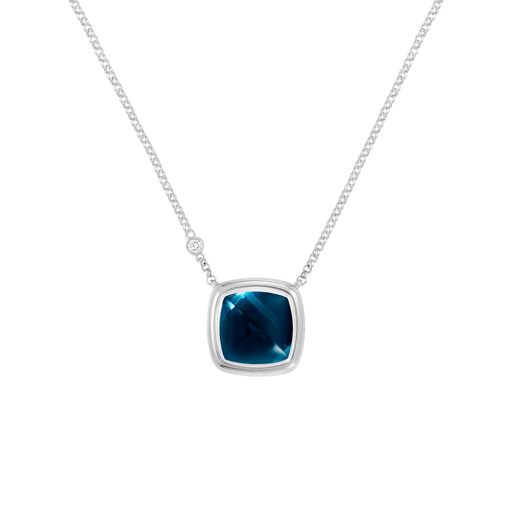 Blue london topaz Pain de Sucre necklace