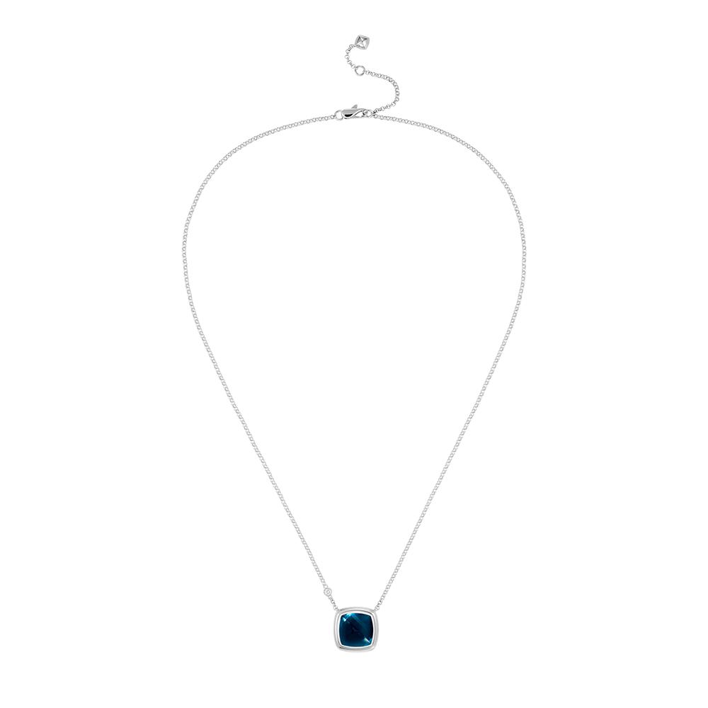 Blue london topaz Pain de Sucre necklace