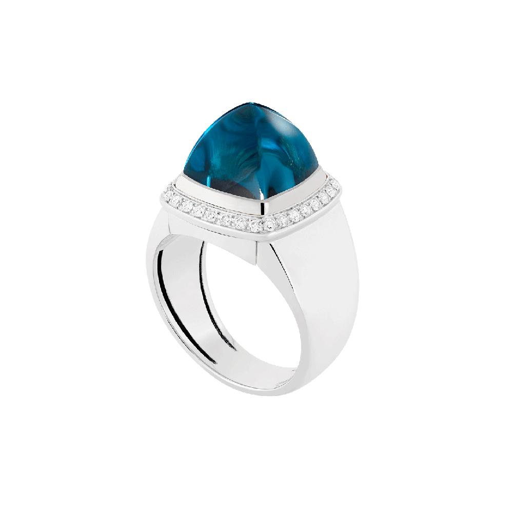 Blue london topaz Pain de Sucre ring