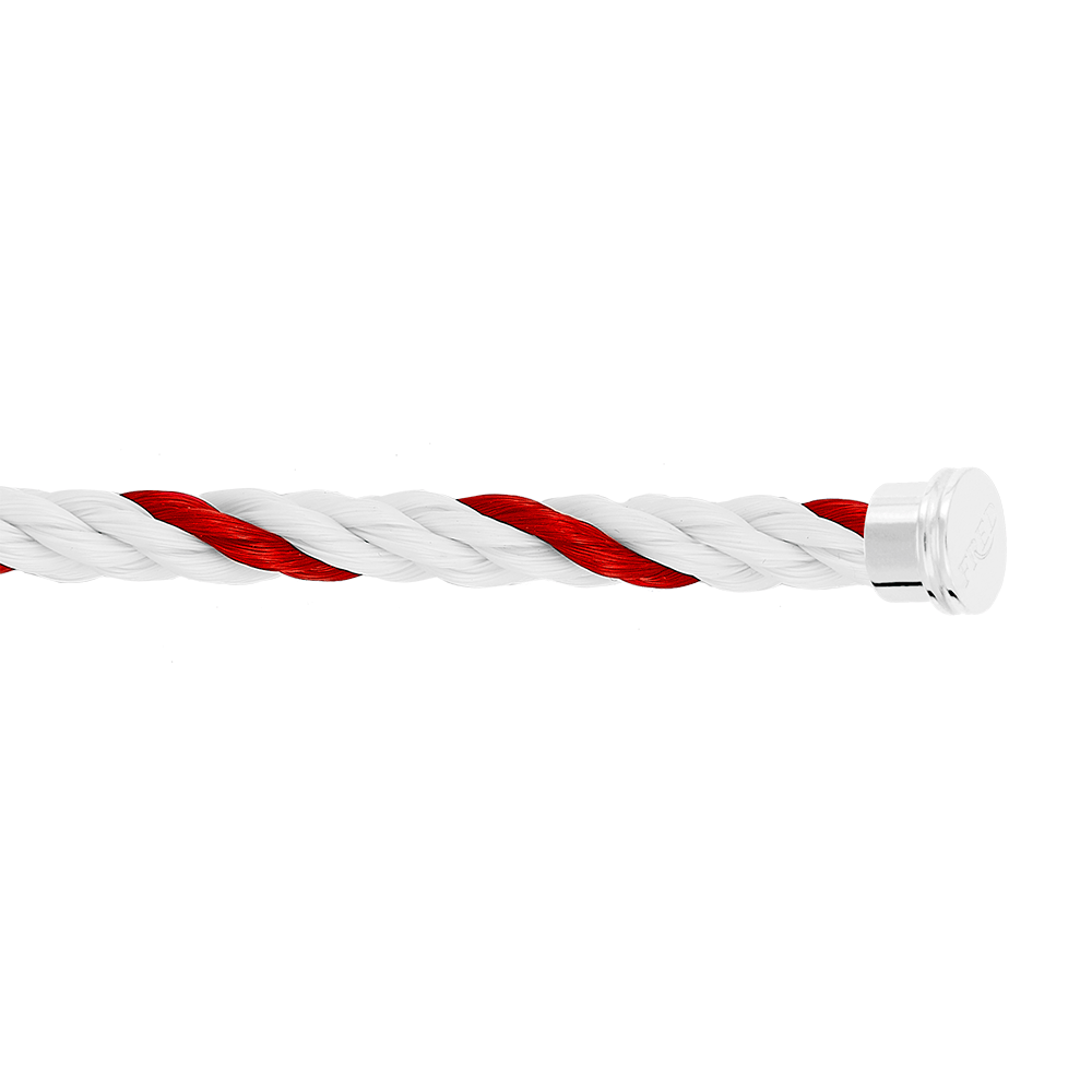 Red and white Emblem cable