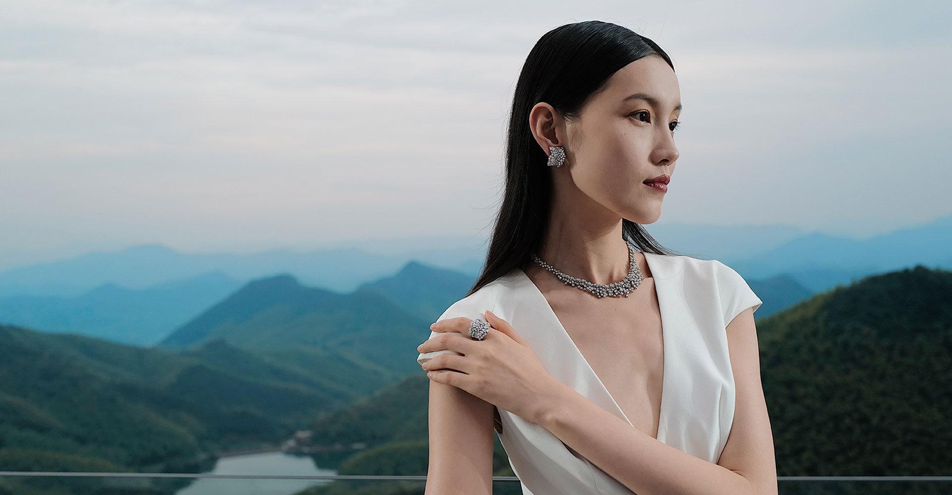 중국 모간산에서 개최된 하이 주얼리 행사