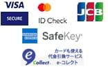 visa, mastercard,jcb, sagawa