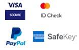 visa, mastercard, american express, paypal